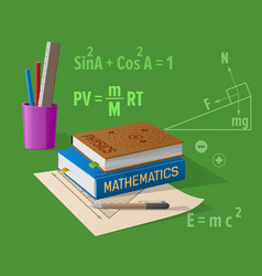Physics mathematics classes cartoon vector
