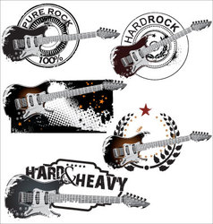 Pure rock stamp set vector image
