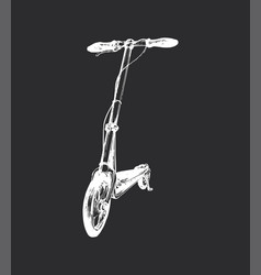 push scooter hand drawn vector image