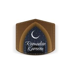 Ramadan Kareem religious Label with Ribbon vector