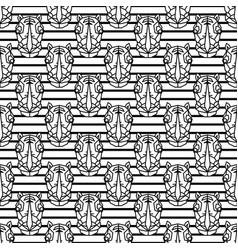rhinoceros geometric line style seamless vector image