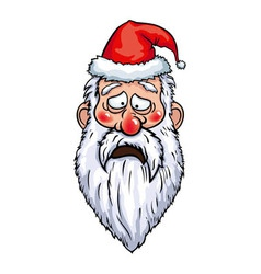 Santa Claus Sad Head vector
