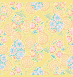 Seamless pattern of colorful eggs vector