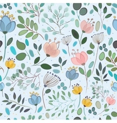 Seamless pattern Watercolor flowers vector image vector image