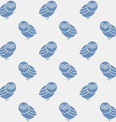 Seamless pattern with silhouettes cute owls vector