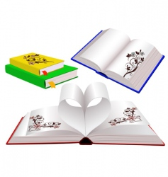 set of books with ornaments vector image
