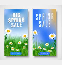 set of vertical web banners for spring sales vector image