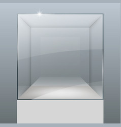Showcase from glass vector
