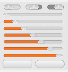 slider bars and toggle switch buttons vector image