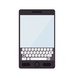 smartphone screen mobile phone keyboard icon vector image