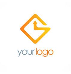 Square arrow logo vector