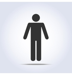 Standing human icon vector