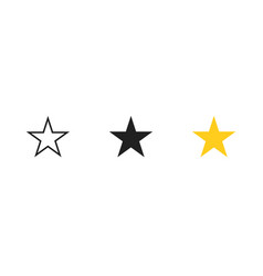 Star set icon in flat isolated vector
