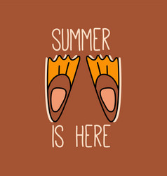 summer concept design with flippers vector image