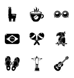 sunday icons set simple style vector image