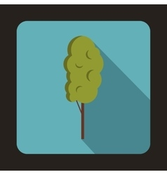 Tall wood icon flat style vector image