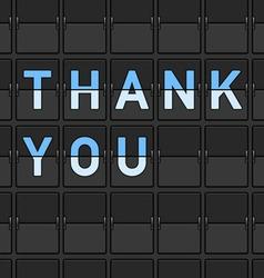 Thank You Flip Board vector