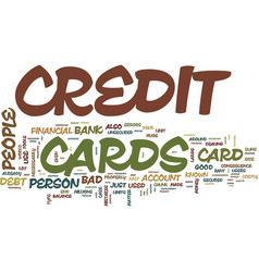 the bad credit card that may do good text vector image vector image