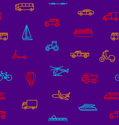 transport signs thin line seamless pattern vector image
