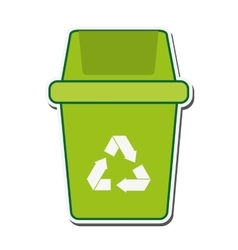 trash recycle ecology protection design vector image