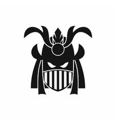 Tribal helmet icon simple style vector image