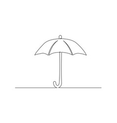umbrella one line drawing vector image