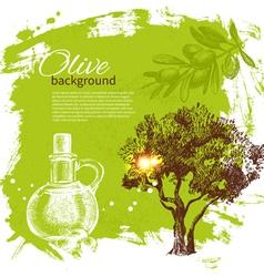 Vintage olive background vector image