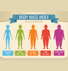 Woman body mass index medical infographic vector