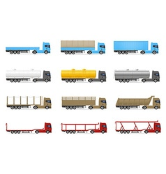 cargo trucks 02 vector image vector image