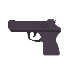 gun weapon semiautomatic vector image