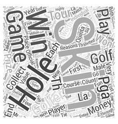 Skins game word cloud concept vector