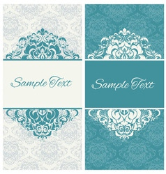 decorative frame or invitation cards vector image vector image