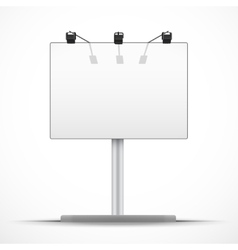 Empty mockup billboard with spotlights and day vector image vector image
