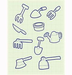 Gardening iconv vector image vector image
