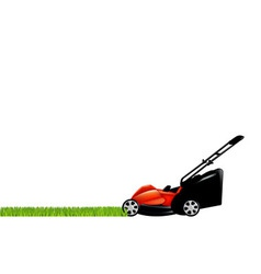 Lawnmower and grass vector