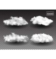 Set of Fluffy white clouds Realistic design vector image