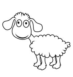 Cartoon lamb vector