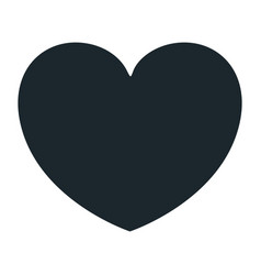 hand drawing dark blue color heart shape vector image vector image