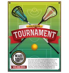 Lacrosse Tournament Flyer vector image vector image