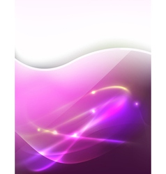 pink light ray vector image vector image
