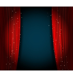 red curtains background vector image