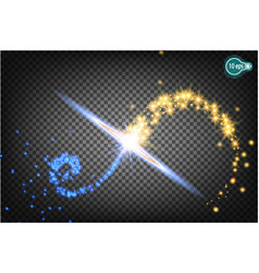 christmas star isolated on a transparent vector image vector image