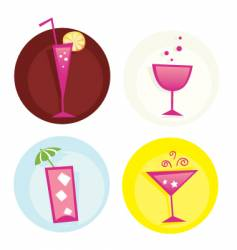 drinks icon set vector image vector image
