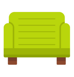green armchair icon isolated vector image