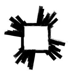 grunge banner frame vector image