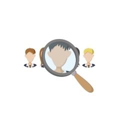 Human resources icon carton style vector image