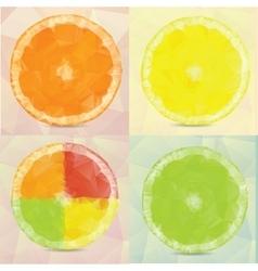Polygonal fruit vector image