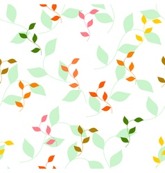 seamless pattern of different colored autumn leave vector image vector image