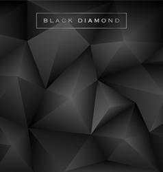 Abstract black diamond polygon background vector