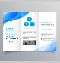 abstract blue brochure design template design vector image